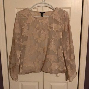 Alfani ivory blouse with attached cami XL EUC